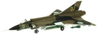 Saab Draken J35F 10-02 35-602, Swedish Air Force, Angelholm, 1995, 1:72, Aviation 72
