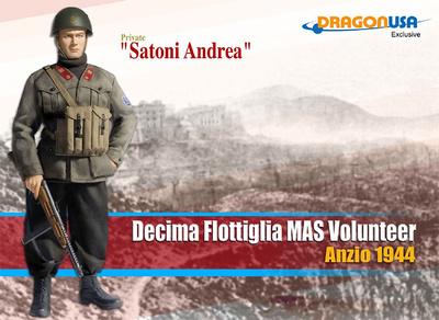 """""""Satoni Andrea"""", Decima Flottiglia Mas, Volunteer, Anzio, 1944, 1:6, Dragon Figures"""