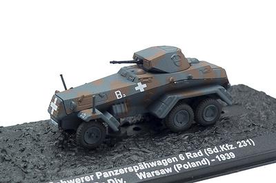 Schwerer Panzerspähwagen 6 Rad (Sd.Kfz. 231), Polonia, 1939, 1:72, Altaya