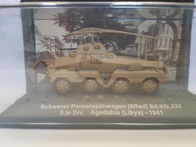 Schwerer Panzerspähwagen 8 Rad (Sd.Kfz. 232), Libia, 1941, 1:72, Altaya