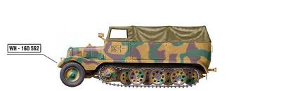 Sd. Kfz. 11 German 3 ton Half Track Werfer Brigade 5, Italy 1944, 1:72, Hobby Master