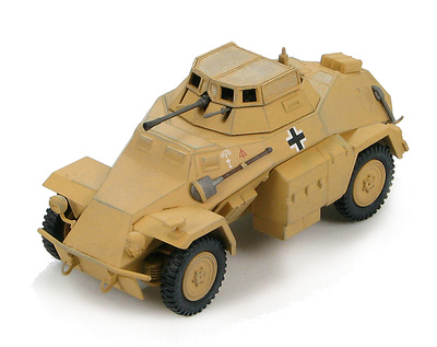 """Sd. Kfz. 222 Leichter Panzerspähwagen (4x4) """"WH-1226481"""" 15th Panzer Division, DAK, Libya, 1942, 1:48, Hobby Master"""