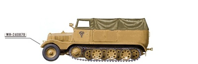 "Sd. Kfz.11 German 3-ton Half-Track 15th Panzer Div., North Africa ""WH-240079"", 1:72, Hobby Master"