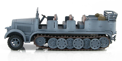 Sd. Kfz.7 German 8 Ton Half Track, WL-427172,  pintura de invierno, 2ª Guerra Mundial, 1:72, Hobby Master