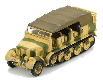 Sd. Kfz.7 German 8 Ton Half Track Anti-Aircraft Battery, Luftwaffe, WWII, 1:72, Hobby Master