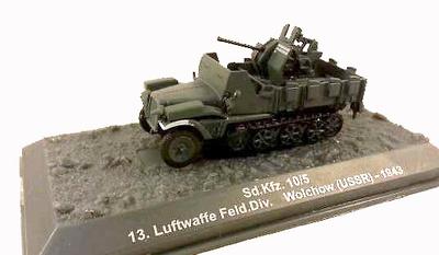 Sd.Kfz. 10/5, 13. Luftwaffe, Feld. Div. Wolchow, URSS, 1943, 1:72, Altaya