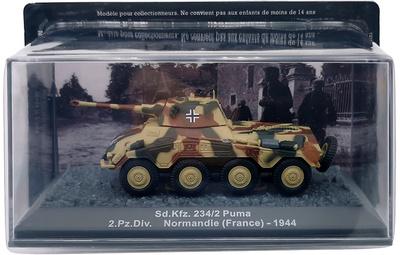 Sd.Kfz. 234/2, Puma, 2 ª División Panzer, Normandía, 1944, 1:72, Altaya