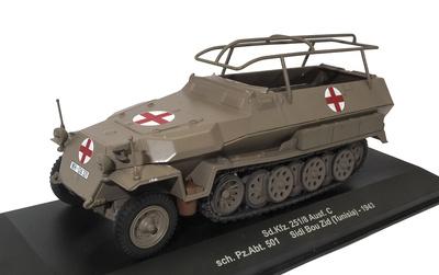 Sd.Kfz. 251/8 Ausf. C, sch. Pz.Abt. 501, Sidi Bou Zid, Túnez, 1943, 1:43, Atlas