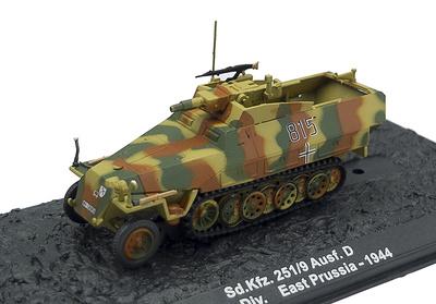 Sd.Kfz. 251/9 Ausf. D, 20. Pz.Div, Prusia del Este, 1944, 1:72, Altaya