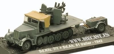 Sd.Kfz. 7/1 + Sd.Ah. 51 trailer, 1942, 1:72, Blitz 72