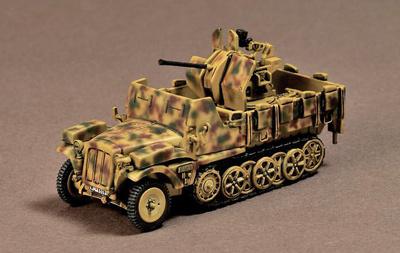 Sd.Kfz.10/5 Demag D7 Flak 38, Alemania, 1943, 1:72, War Master
