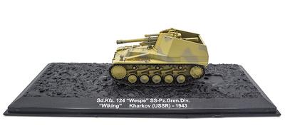 """Sd.Kfz.124 """"Wespe"""" SS-Pz.Gren.Div. """"Wiking"""" Kharkov (USSR) 1943, 1:72, Altaya"""