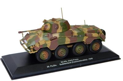 Sd.Kfz.234/2 Puma, 20 Pz Div, Sudentenland, 1945, 1:43, Altaya