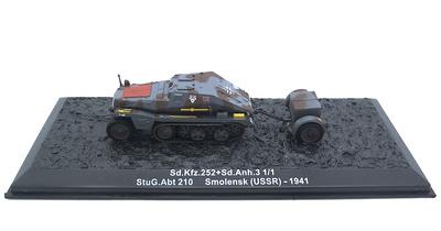 Sd.Kfz.252+Sd.Anh.3 1/1 StuG.Abt210 Smolensk (USSR), 1941, 1:72, Altaya