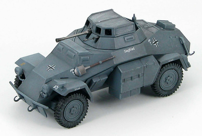 SdKfz 222. Leichter Panzerspahwagen, Norte de Africa, Marzo, 1941, 1:48, Hobby Master