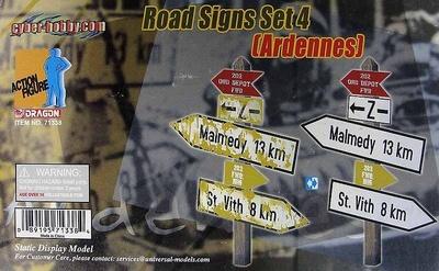 Señales de caminos, Set 4, Las Ardenas, 1:6, Dragon Figures