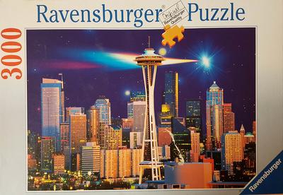Seattle de noche, 3000 piezas, puzzle, Ravensburguer