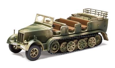 Semioruga Sd.Kfz.7 Krauss-Maffei, Artillería Antiaérea de la Luftwaffe, Túnez, 1943, 1:50, Corgi