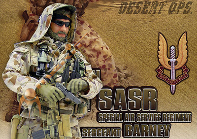 """Sergeant Barney"" Australian 1 SQN Special Air Service Regiment (SASR), 1:6, Elite Force"