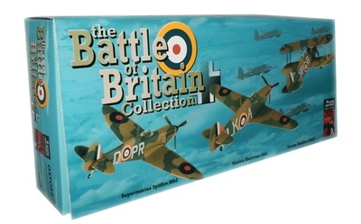 Set de 3 aviones, Batalla de Inglaterra, 75 Aniversario, 1:72, Oxford