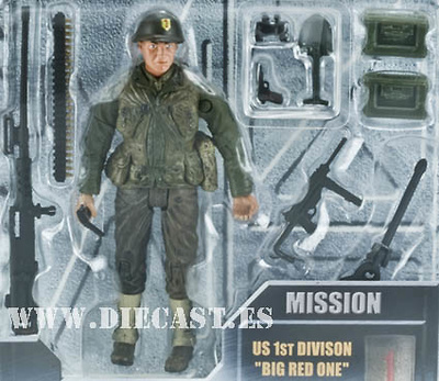 "Sgt. Steele, US 1st Division ""Big Red One"", Normandy 1944, 1:18, Elite Force"