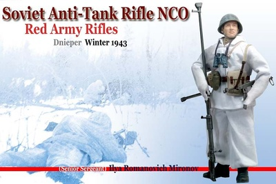 Sgto. Mayor Ilya Romanovich Mironov, Soviet Anti-Tank Rifle NCO, Río Samara, 1943, 1/6, Dragon Figures