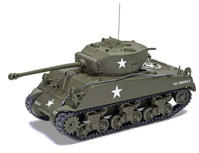 Sherman M4 A3 (versión tardía), Ejército de EE. UU., Luxemburgo 1944, 1:50, Corgi