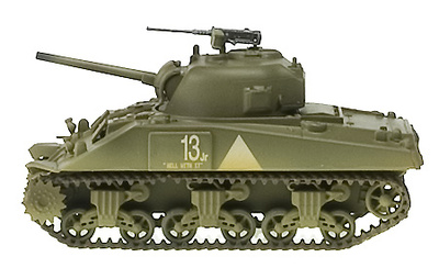 Sherman M4A1(76)W, 6th Armoured Division, 1:72, Easy Model