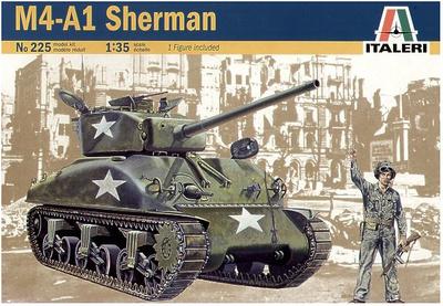 Sherman M4A1, 1:35, Italeri