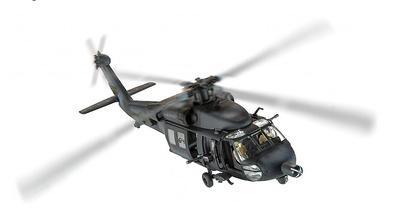 """Sikorsky MH-60L, """"Blackhawk Derribado"""" Super-Six Four, Operación Gothic Serpent, Mogadiscio, 1993, 1:72, Corgi"""
