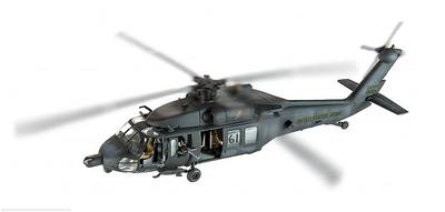 """Sikorsky MH-60L, """"Blackhawk Derribado"""" Super-Six One, Operación Gothic Serpent, Mogadiscio, 1993, 1:72, Corgi"""