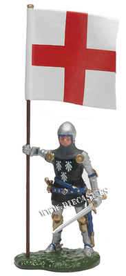 Sir Thomas Strickland con la bandera de San Jorge, 1:32, William Britains