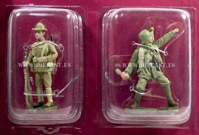 Soldado Americano + Tropa de asalto Alemán, 1918, 1:32, Hachette