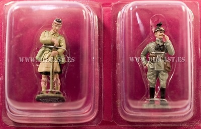 Soldado Escocés + Oficial Ulano, 1914, 1:32, Hachette
