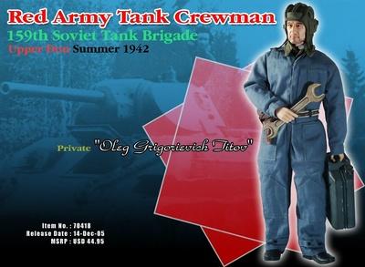 """Soldado """"Oleg Grigorievich Titov"""", Tripulante de Tanque del Ejército Rojo, Brigada 159, río Don, 1942, 1/6, Dragon Figures"""