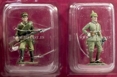 Soldado Ruso + Sargento 1º Guardia de Prussia, 1914, 1:32, Hachette