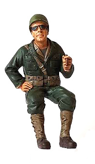 Soldado USA, acompañante de conductor de Jeep, 2ª G.M., 1:18, American Diorama