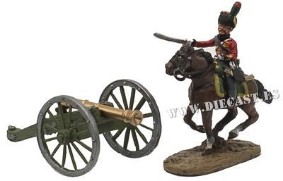 Soldado a caballo + cañón francés, 1:60, Del Prado