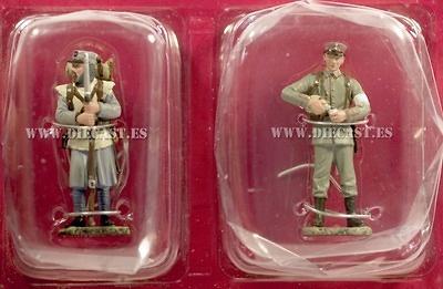 Soldado de Infantería Francés + Soldado de infantería Alemán, 1915, 1:32, Hachette