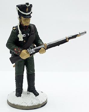 Soldado del 49 Regto. de Cazadores, uniforme de invierno, 1812, 1:32, Eaglemoss
