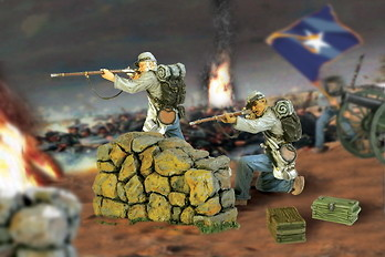 Soldados Confederados, Guerra Civil USA, 1:32, Forces of Valor