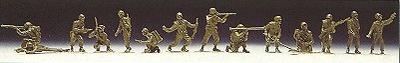 Soldados USA, 14 unidades, para pintar, 1:87, Roco