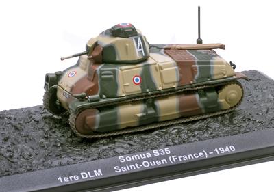 Somua S35, 1ere DLM, Saint-Ouen (Francia), 1940, 1:72, Altaya