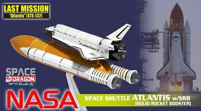 "Space Shuttle ""Atlantis"" w/ SRB (Solid Rocket Booster), 1:400, Dragon Wings"
