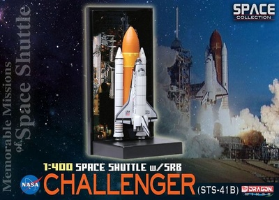 "Space Shuttle ""Challenger"" w/SRB (STS-41B), 1984, 1:400, Dragon Space Collection"