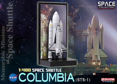 Space Shuttle Columbia w/SRB (STS-1), 1:400, Dragon Space Collection