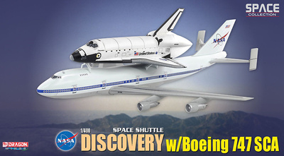 "Space Shuttle ""Discovery"" w/Boeing 747 SCA, 1:400, Dragon Wings"