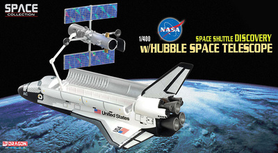 "Space Shuttle ""Discovery"" w/Hubble Space Telescope, 1:400, Dragon Wings"