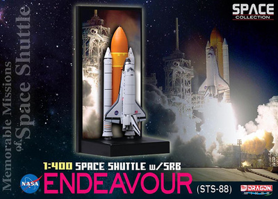 Space Shuttle Endeavour w/SRB (STS-88), 1998, 1:400, Dragon Space Collection