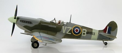 """Spitfire IXc """"MH883"""" 412 Squadron RCAF, 126 Wing F/L George Beurling, Biggin Hill, England, Jan 1944, 1:48, Hobby Master"""